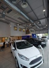 Monodraught Cool phase helps Fords Retail Car Showrooms Go Green