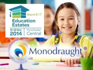 Monodraught creates 'Education Learning Environments' on Stand E17 at the Education Estates Exhibition 2014