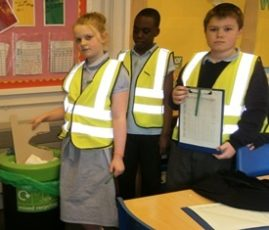 Smiles all round for school recycling