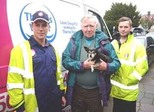 "Lanes engineers play ""vital role"" in rescuing drain dog Dottie"
