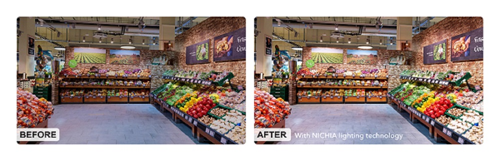 Innovative LED technology from NICHIA  is ray of light for retail sector