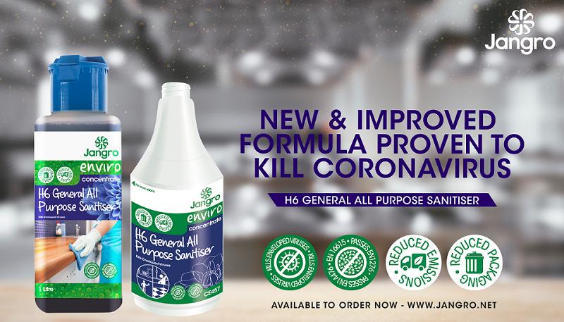 Jangro sanitiser's new and improved formula kills coronavirus