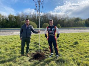 GROUNDS CARE GROUP TEAMS UP WITH BRITISH TOURING CAR CHAMPIONSHIP STAR TO OFFSET CARBON FOOTPRINT WITH TREE-PLANTING DRIVE