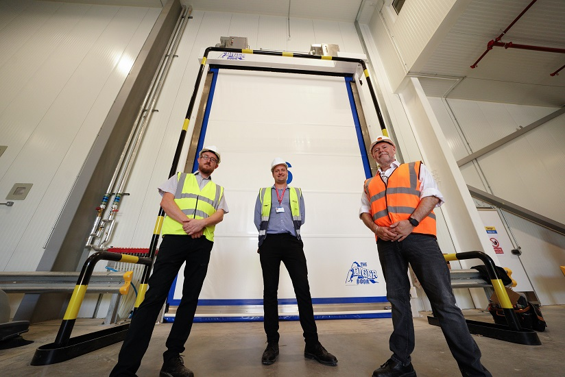 Largest ever Eiger Door takes its place in Felixstowe Mega Distribution Centre